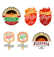 Vintage pizzeria labels badges design elements vector