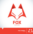 Fox symbol icon vector