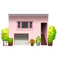 A modern pink house vector