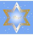 Israel - background with golden star of david vector