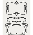 Set of frames in art-deco style vector