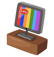 Sale television isolated on white background vector