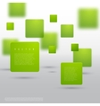 Abstract geometric shape from green cubes vector