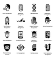 Biometric authentication icons black vector