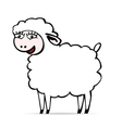 Sheep smiling vector