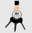Hand holding key bunch vector