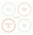 Set of hand drawn style badges and elements doodle vector