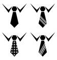 Tie black symbols vector