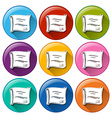 Buttons with certificates vector