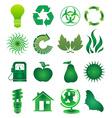 Go green icons set vector