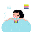 Jacuzzi cute woman vector