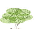 Stylized tree silhouette isolated on white vector