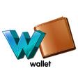 A wallet vector