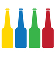 Colored glass bottle set vector
