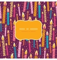 Colorful birthday candles frame seamless pattern vector