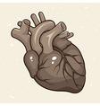 Grunge human heart vector