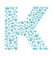 Water letter k vector
