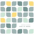 Abstract gray yellow rounded squares frame corner vector
