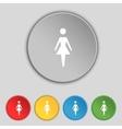 Female sign icon woman human symbol women toilet vector