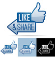 Like and share thumbs up vector