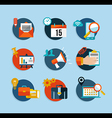 Social media network flat icons set vector