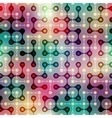 Joined balls pattern on blurred background vector