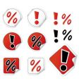Set of shopping stickers vector