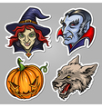 Halloween stickers set vector