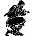 Ninja fighter -  vinyl-ready vector