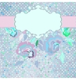 Vintage dots floral card vector