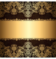 Gold patter border vector