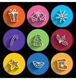 Trendy christmas icons with long shadow vector