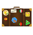 Travel bag with stickers vector