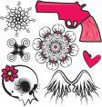 Punk design elements vector