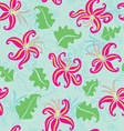 Seamless lily flowers vector