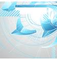 Abstract futuristic 3d high tech design vector