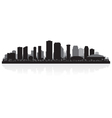 New orleans usa city skyline silhouette vector