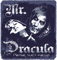 Dracula sucks up vector