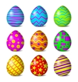Easter color pattern vector