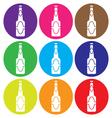 Beer bottle icon set vector
