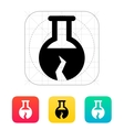 Broken florence bulb icon vector