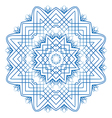 Abstract design of a circular pattern vector