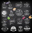 Cocktail party menu vector