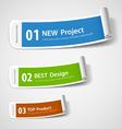Colorful paper roll label design vector