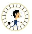 Businessman in a hamster wheel vector