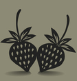Stawberry icon vector