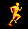 Fiery running man vector