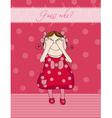 Birthday girl card vector