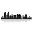 Philadelphia usa city skyline silhouette vector