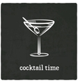 Cocktail black old background vector
